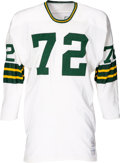 Football Collectibles:Uniforms, Early 1970's Dick Himes Game Worn Green Bay Packers Jersey, MEARS A9....