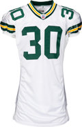 Football Collectibles:Uniforms, 2002 Ahman Green Game Worn Green Bay Packers Jersey - Photo Matched to 12/15 vs. 49ers (16 Repairs)!...