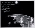 Explorers:Space Exploration, Fred Haise Signed Apollo 13 Lost Moon and Crippled Service Module Photo....