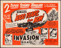 1000 Years from Now/Invasion USA Combo & Other Lot (American Picture Company, R-1956). Rolled, Fine/Very Fine. H...