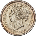 """Canada, Victoria """"Large Pointed 6"""" 10 Cents 1886 MS63 PCGS,"""