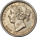 Canada, New Brunswick. Victoria 20 Cents 1864 AU Detail (Cleaned) ...