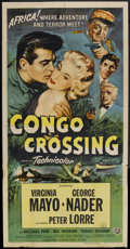 "Movie Posters:Adventure, Congo Crossing (Universal International, 1956). Three Sheet (41"" X81""). Adventure...."