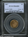 Proof Indian Cents: , 1867 1C PR64 Red PCGS....