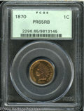 Proof Indian Cents: , 1870 1C PR65 Red and Brown PCGS....