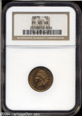 Proof Indian Cents: , 1870 1C PR65 Red and Brown NGC....