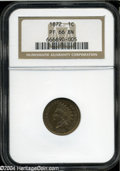 Proof Indian Cents: , 1872 1C PR66 Brown NGC....