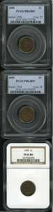 Proof Indian Cents: , 1880 1C PR65 Brown PCGS,... (3 Coins)
