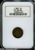 Proof Indian Cents: , 1881 1C PR66 Brown NGC....