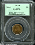 Proof Indian Cents: , 1881 1C PR65 Red PCGS....