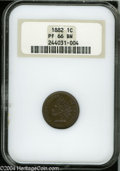 Proof Indian Cents: , 1882 1C PR66 Brown NGC....