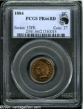 Proof Indian Cents: , 1884 1C PR66 Red PCGS....