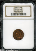 Proof Indian Cents: , 1887 1C PR64 Red NGC....
