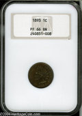 Proof Indian Cents: , 1893 1C PR66 Brown NGC....