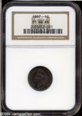 Proof Indian Cents: , 1897 1C PR66 Brown NGC....