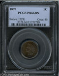 Proof Indian Cents: , 1897 1C PR66 Brown PCGS....
