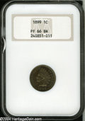 Proof Indian Cents: , 1899 1C PR66 Brown NGC....