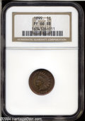 Proof Indian Cents: , 1899 1C PR66 Red and Brown NGC....