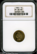 Proof Indian Cents: , 1901 1C PR65 Red NGC....