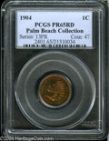 Proof Indian Cents: , 1904 1C PR65 Red PCGS....