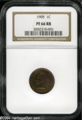 Proof Indian Cents: , 1905 1C PR66 Red and Brown NGC....