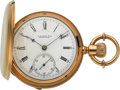 Timepieces:Pocket (pre 1900) , E. Howard & Co., 18k Gold Series V Hunter, circa 1880's. ...