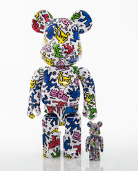 BE@RBRICK X Keith Haring Foundation Keith Haring 100% and 400% (two works), 2017 Painted