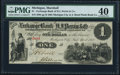 Obsoletes By State:Michigan, Marshall, MI- Michigan City and South Bend Plank Road Co. at Exchange Bank of H.J. Perrin & Co. $1 April, 1862 Lee MAS-1-2 ...