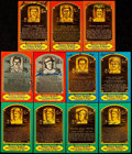 Autographs:Post Cards, Hall of Fame Plaque Postcard Lot of 11....