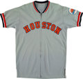 Baseball Collectibles:Uniforms, 1972 Jerry Reuss Game Worn Houston Astros Jersey & Pants with Awesome Patch....