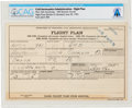 Explorers:Space Exploration, Neil Armstrong's 1955 Flight Plan For Flying an R4D While Working for National Advisory Committee for Aeronautics (NACA) in Cl...