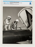 Explorers:Space Exploration, X-15: U.S. Air Force Official Photograph, 1960-62, of Neil Armstrong in Flight Suit by an X-15 Directly From The Armst...