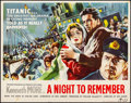 "Movie Posters:Drama, A Night to Remember (Rank, 1959). Rolled, Fine/Very Fine. BritishHalf Sheet (22"" X 28""). Drama.. ..."