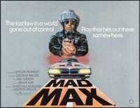 "Mad Max (Warner Brothers, 1979). Rolled, Very Fine+. British Quad (30"" X 40"") Tom Beauvais Artwork. Science Fi..."