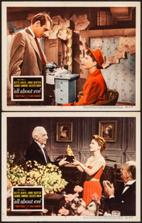 "All About Eve (20th Century Fox, 1950). Very Fine-. Lobby Cards (2) (11"" X 14""). Academy Award Winners. ... (T..."
