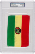Explorers:Space Exploration, Apollo 15 Flown Flag of Bolivia Originally from the Personal Collection of Mission Commander Dave Scott, Signed and Certified,...