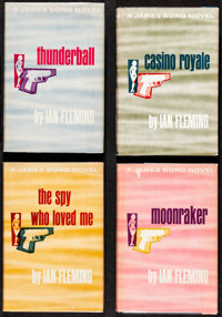 James Bond Book Lot (Various, Mid-Late 1960s). Very Fine-. Book Club Edition Hardcover Books (7) (Multiple Pages, 5.5&qu...