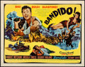 """Movie Posters:Action, Bandido (United Artists, 1956). Rolled, Very Fine-. Half Sheet (22""""X 28"""") Style B. Action.. ..."""