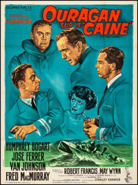 """The Caine Mutiny (Columbia, 1954). Very Fine- on Linen. French Grande (46.75"""" X 62.5"""") Style B, Arnstam Artwor..."""