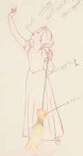 Animation Art:Color Model, Snow White and the Seven Dwarfs Snow White Color Model Drawing (Walt Disney, 1937). ...