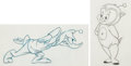 Animation Art:Production Drawing, Duck Dodgers and the Return of the 24 1/2 Century Daffy andPorky Production Drawing Original Art Group (Warner Brothe...(Total: 2 Original Art)