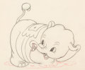 Animation Art:Production Drawing, Mickey's Elephant Bobo the Elephant Animation Drawing (Walt Disney, 1936)....