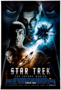 Memorabilia:Science Fiction, Star Trek Autographed, Double-Sided, One Sheet, Movie Poster (Paramount, 2009)....
