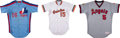 Baseball Collectibles:Uniforms, 1985-87 Terry Francona, Brian Downing & Terry Kennedy Game Worn Jerseys Lot of 3. ...