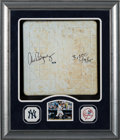 Baseball Collectibles:Others, 2015 Yankee Stadium First Base Used in Alex Rodriguez' 3,000th Hit Game--Signed by Rodriguez....