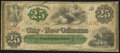 Obsoletes By State:Louisiana, New Orleans, LA- City of New Orleans 25¢ Oct. 24, 1862 Fine.. ...