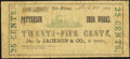 Obsoletes By State:Louisiana, New Orleans, LA- Patterson Iron Works/Jackson & Co. 25¢ Mar. 30, 1862 Very Good-Fine.. ...