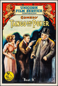 "Movie Posters:Comedy, Tango and Poker (Unicorn Film Service, 1916). Fine+ on Linen. OneSheet (27.75"" X 40.75""). Comedy.. ..."