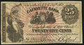 Obsoletes By State:Indiana, Lafayette, IN- Brown & Tilford at Lafayette Bank 25¢ Nov. 25, 1862 Wolka 354-3 / 1080-04 (2018) Very Fine.. ...