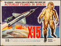 "Movie Posters:Adventure, X-15 (United Artists, 1961). Folded, Fine/Very Fine. British Quad (30"" X 40""). Adventure.. ..."